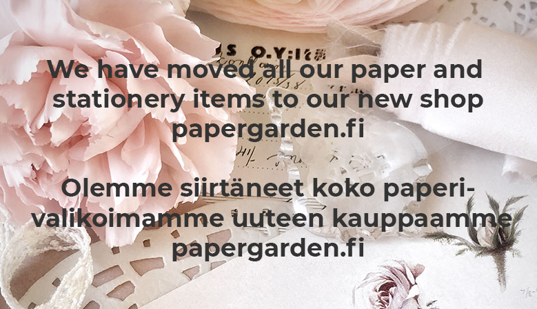 We have moved all our paper and stationery items to our new shop papergarden.fi